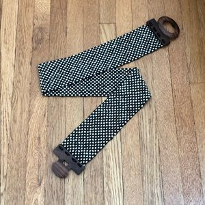 VTG beaded & wood stretch belt